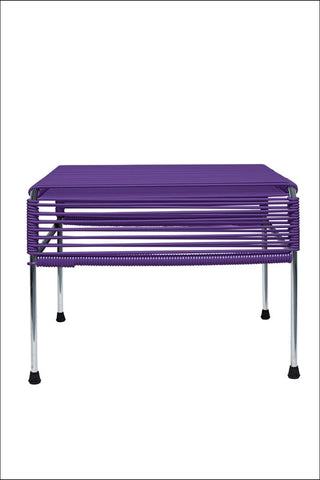 Innit Adam Ottoman Chrome Frame With Purple Weave