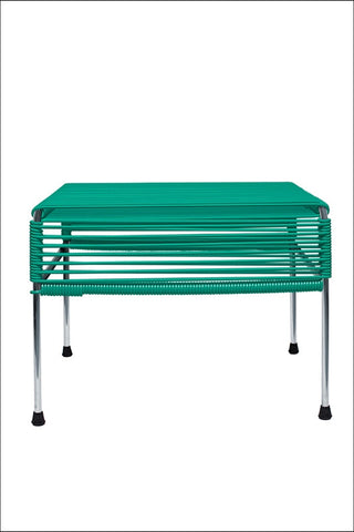 Innit Adam Ottoman Chrome Frame With Turquoise Weave