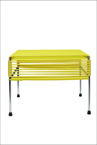 Innit Adam Ottoman Chrome Frame With Yellow Weave