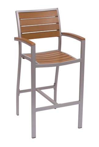 Commercial Arm Barstool Largo Grey