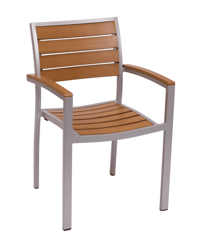 Commercial Arm Chair Largo Grey