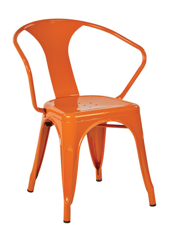"Tolix OSP Designs 30"" Metal Chair (4-Pack) Orange"