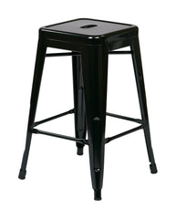 "Tolix 24"" Steel Backless Barstool (4-Pack) (Black) - YourBarStoolStore + Chairs, Tables and Outdoor"