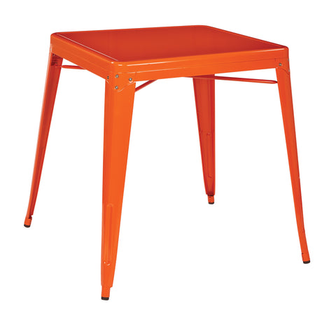 Tolix Paterson Metal Table in Orange Finish