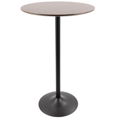 Pebble Adjustable Bar/Counter Table - Black & Walnut