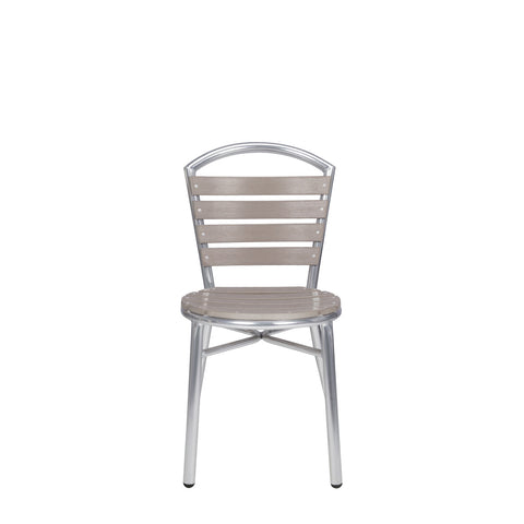 Milano Dining Side Chair (Gray/Teak)