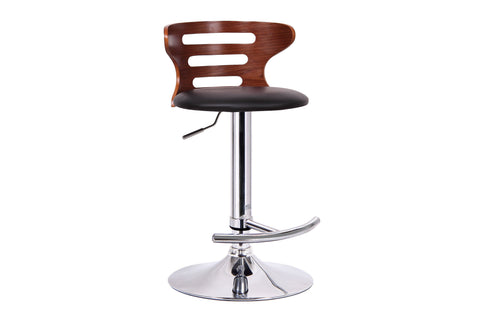 Buell Walnut And Black Modern Bar Stool [ybss-bt]