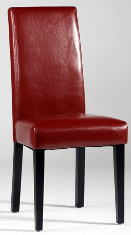 Chintaly Straight Back Parson Chair Red Pu STRGT-BCK-PRS-SC-RED