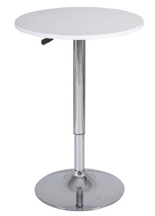 "White Adjustable Bar Table 24"" wide"