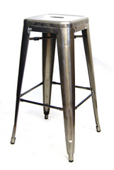 "Tolix 30"" Bar Stool in Pewter - YourBarStoolStore + Chairs, Tables and Outdoor"