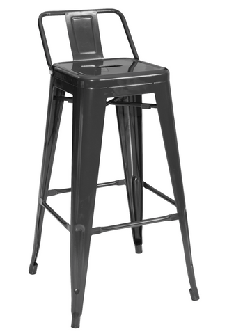 Tolix low back metal bar stools black on sale now yourbarstoolstore chairs tables and outdoor - Tolix low back bar stool ...