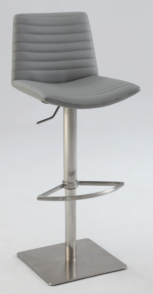 Surprising Home Chintaly Ribbed Back And Seat Pneumatic Stool Bar Stools Gamerscity Chair Design For Home Gamerscityorg