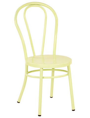 Thonet Style Yellow Metal Bentwood Steel Side Chair (set of 2)