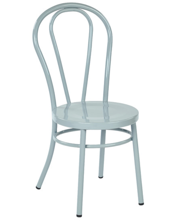 Exceptionnel Thonet Style Pastel Quarry Metal Bentwood Steel Side Chair (set Of 2)