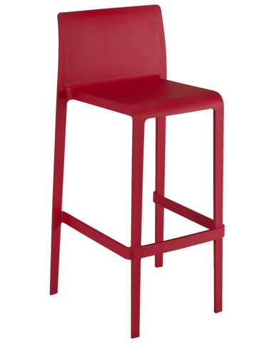 VOLT-B Red Polypropylene Bar Stool