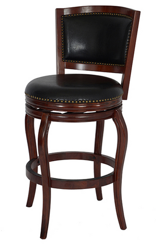 Boraam 29Inch Harris Memory Swivel Stool Cherry 51129