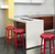 Red Metal Industrial Counter Stools - YourBarStoolStore + Chairs, Tables and Outdoor  - 4