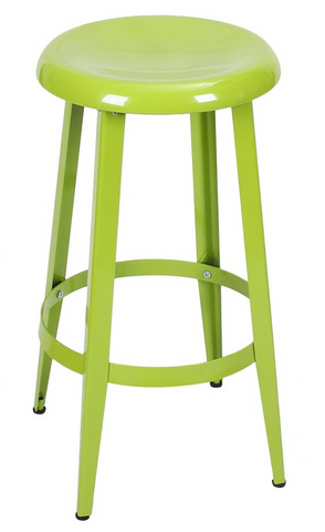 Green Metal Industrial Counter Stools