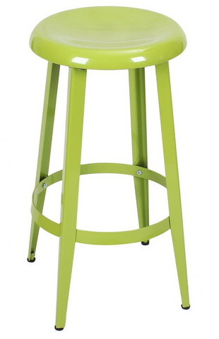 Green 26-inch Metal Counter Stools
