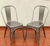 Gunmetal Stackable Industrial Tolix Style Chair Outdoor and Indoor Set of Two - YourBarStoolStore + Chairs, Tables and Outdoor  - 2