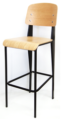 Prouve Style Commercial Bar Stool - YourBarStoolStore + Chairs, Tables and Outdoor