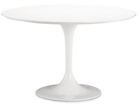 "White Round 42"" Lily - Tulip Fiberglass Table"