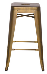 Metropolis Metal Backless Counter Stool, Brushed Copper - YourBarStoolStore + Chairs, Tables and Outdoor  - 1