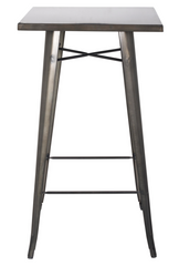 "Tolix Style Bar Table 24"" wide Gunmetal - YourBarStoolStore + Chairs, Tables and Outdoor  - 1"