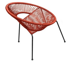 Acapulco Outdoor Dining Chair - Atomic Tangerine