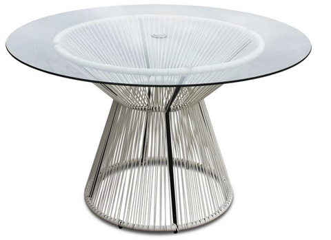 Acapulco Outdoor Dining Table - White Lightning