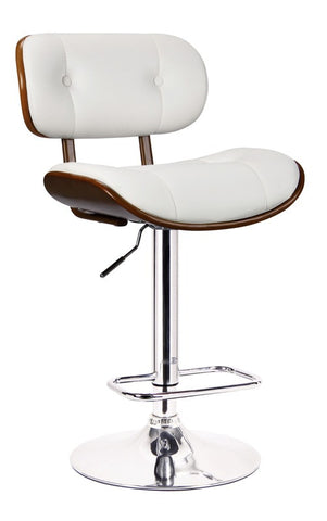 Boraam Smuk Adjustable Swivel Stool White 99431