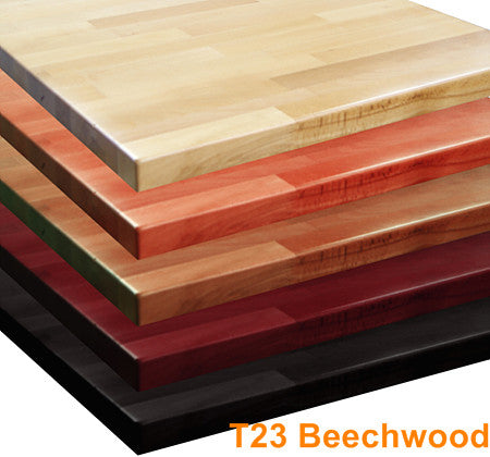 Commercial Tables T23 Beechwood - Butcher Block