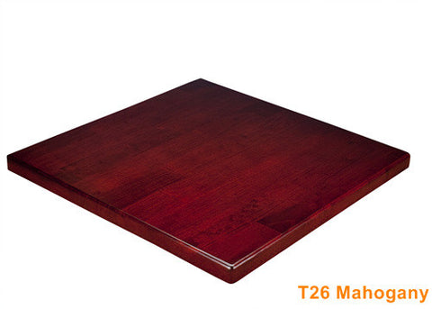 Commercial Tables T26 Mahogany (Rubber wood)