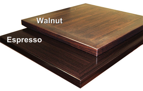 Commercial Tables T34NW walnut  / T34NE espresso pre-finished