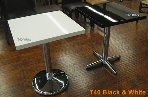 Commercial Tables T40 Black / White top