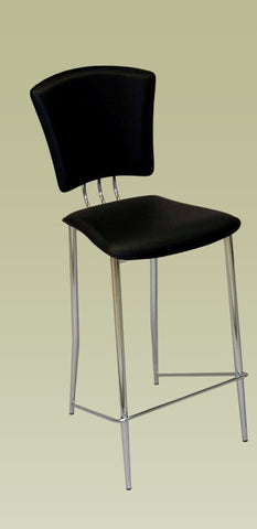 Chintaly Bar Height Stool Black Pvc TRACY-BS-BLK