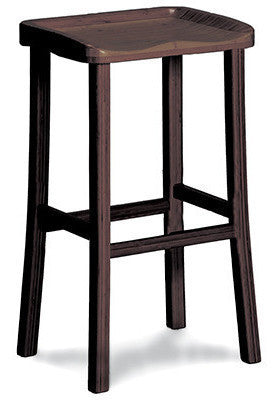 Tulip Bamboo Bar Stools Black Walnut