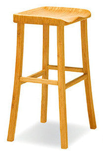 Tulip Bamboo Bar Stools Caramelized
