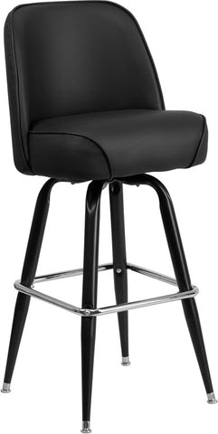 Metal Bar Stool with Swivel Bucket Seat