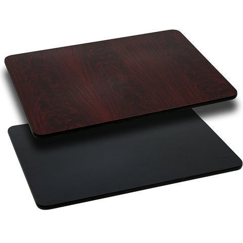 Rectangular Table Top with Black or Mahogany Reversible Laminate Top