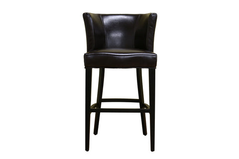 Cleto Dark Brown Leather Barstool [ybss-bt]