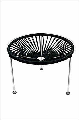 Innit Zica Table Chrome Frame With Black Weave