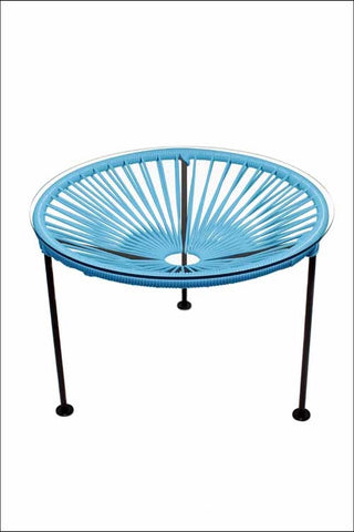 Innit Zica Table Blue Weave On Black Frame