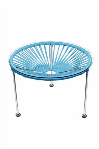Innit Zica Table Chrome Frame With Blue Weave