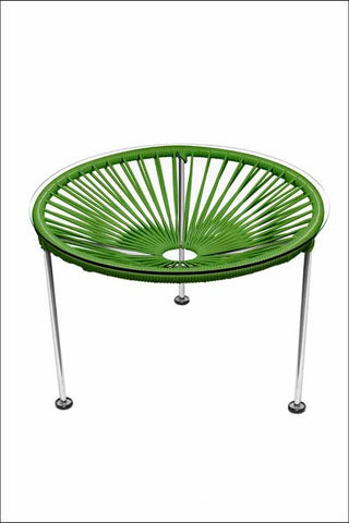 Innit Zica Table Chrome Frame With Cactus Weave