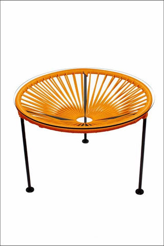 Innit Zica Table Orange Weave On Black Frame