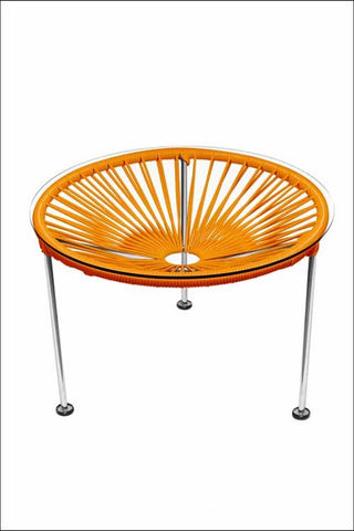 Innit Zica Table Chrome Frame With Orange Weave