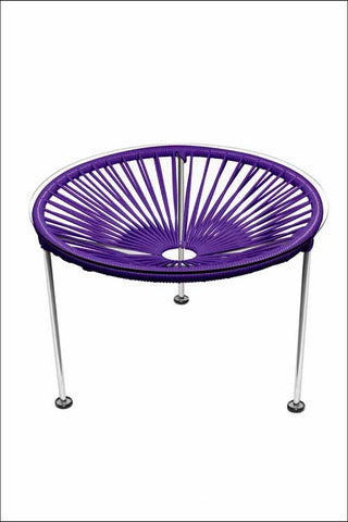 Innit Zica Table Chrome Frame With Purple Weave