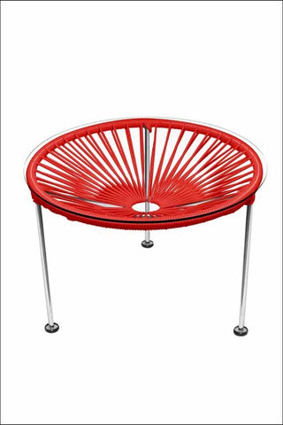Innit Zica Table Chrome Frame With Red Weave