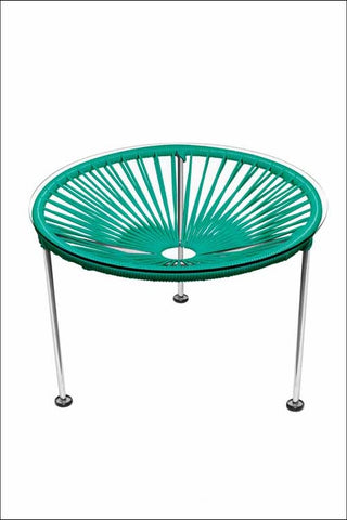 Innit Zica Table Chrome Frame With Turquoise Weave